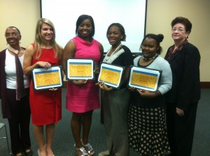Awards Ceremony, North Louisianan Chapter of AAUW Outstanding Young Women of Lincoln Parish 2012
